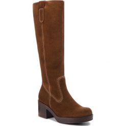 Kozaki GABOR - 91.518.18 Whisky. Brązowe buty zimowe damskie Gabor, z materiału, na obcasie. Za 789,00 zł.