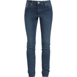 Cheap Monday High Skin - Blue Blue Jeansy damskie niebieski. Niebieskie boyfriendy damskie Cheap Monday, z aplikacjami, z jeansu. Za 184,90 zł.