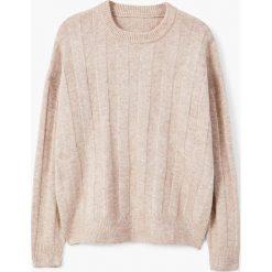 Mango - Sweter Canali. Szare swetry klasyczne damskie marki Mango, l, z dzianiny, z okrągłym kołnierzem. W wyprzedaży za 59,90 zł.