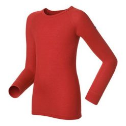 Odlo Koszulka termoaktywna Odlo Shirt l/s crew neck Warm Kids czerwona r. 92 (1045992). Czarne t-shirty chłopięce marki Odlo. Za 99,95 zł.