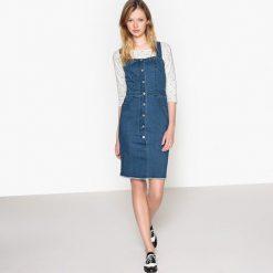 Sukienki: Denimowa sukienka na guziki z przodu