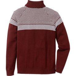 Sweter z golfem Regular Fit bonprix czerwony klonowy. Czerwone golfy męskie marki bonprix, m. Za 59,99 zł.