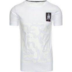 T-shirty męskie z nadrukiem: T-shirt męski z nadrukiem biały (rx1923)