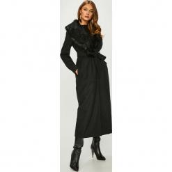 Answear - Płaszcz. Czarne płaszcze damskie pastelowe ANSWEAR, l, w paski, z materiału, klasyczne. W wyprzedaży za 239,90 zł.