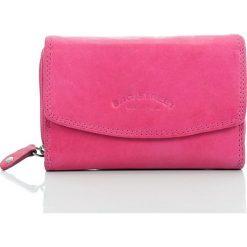 Portfele damskie: Różowy Skórzany portfel damski Bag Street