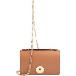 Torebki klasyczne damskie: Skórzana torebka w kolorze jasnobrązowym – 22 x 13,5 x 4 cm