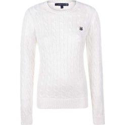 Sweter w kolorze białym. Białe swetry klasyczne damskie marki Giorgio di Mare, xs, z dzianiny, z okrągłym kołnierzem. W wyprzedaży za 151,95 zł.
