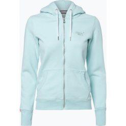 Superdry - Damska bluza rozpinana, zielony. Szare bluzy rozpinane damskie marki Superdry, l, z nadrukiem, z bawełny, z okrągłym kołnierzem. Za 199,95 zł.