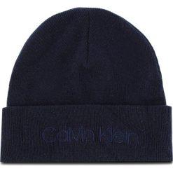 Czapka CALVIN KLEIN - Casual Beanie M K50K504121 448. Niebieskie czapki męskie Calvin Klein, z kaszmiru, casualowe. Za 179,00 zł.
