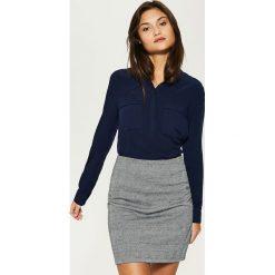 Gładka koszula - Granatowy. Szare koszule męskie marki House, l, z bawełny. Za 69,99 zł.