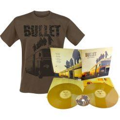 Bullet Dust to gold 2 LP + CD + T-Shirt złoty. Żółte t-shirty męskie Bullet, l, w kolorowe wzory, z bawełny, z klasycznym kołnierzykiem. Za 139,90 zł.
