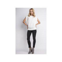 BLUZKA Z ODKRYTYMI RAMIONAMI, BLU102. Białe bluzki nietoperze Lanti, l, z nylonu. Za 139,00 zł.
