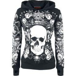 Odzież damska: Jawbreaker Allover Painted Sweater Bluza z kapturem damska czarny/biały