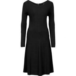Sukienki dzianinowe: Sukienka dzianinowa w prążek bonprix czarny