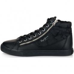 Pepe Jeans Tenisówki Męskie Marton Boot 45 Czarny. Czarne tenisówki męskie Pepe Jeans, z jeansu. Za 366,00 zł.