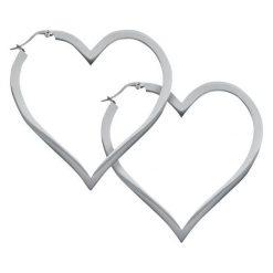 Kolczyki damskie: Wildcat Heart Hoops Kolczyki srebrny