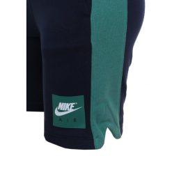 Nike Performance AIR SHORT Krótkie spodenki sportowe obsidian/green noise/white. Szare spodenki chłopięce Nike Performance, z bawełny, sportowe. Za 129,00 zł.