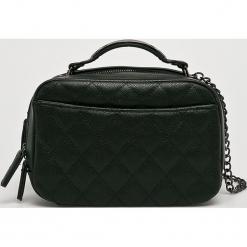 Answear - Torebka Animal me. Czarne torebki klasyczne damskie marki ANSWEAR, w paski, z materiału, małe, pikowane. Za 149,90 zł.