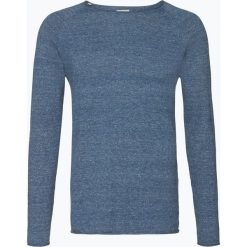 Swetry męskie: Selected – Sweter męski – Clash, niebieski
