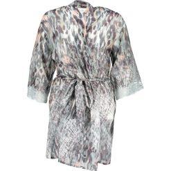 Szlafroki kimona damskie: Szlafrok w kolorze miętowo-antracytowym
