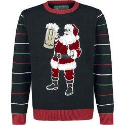 Ugly Christmas Sweater Weihnachtsmann Sweter z dzianiny wielokolorowy. Czarne swetry klasyczne męskie Ugly Christmas Sweater, l, z dzianiny, z okrągłym kołnierzem. Za 144,90 zł.