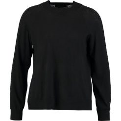 Swetry klasyczne damskie: Cortefiel CREW NECK JUMPER WITH BAND AND STRASS DETAILS IN SLEEVES Sweter black