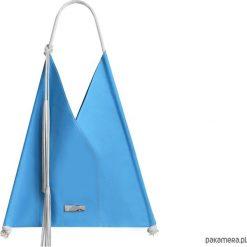Skórzana torba na ramię. Niebieskie torebki klasyczne damskie Pakamera, z bawełny. Za 245,00 zł.