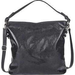 Torebka w strukturalny wzór bonprix czarny. Czarne torebki klasyczne damskie bonprix, w paski. Za 129,99 zł.