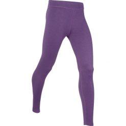 Legginsy termoaktywne sportowe, długie, LEVEL 3 bonprix ciemnofioletowy melanż. Fioletowe legginsy sportowe damskie marki DOMYOS, l, z bawełny. Za 37,99 zł.
