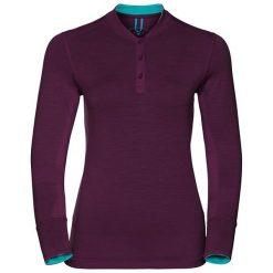 Odlo Koszulka damska Stand-up collar l/s NATURAL 100% MERINO fioletowa r. XS  (110401). Fioletowe topy sportowe damskie Odlo, l. Za 244,31 zł.