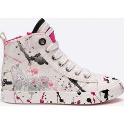 Geox - Trampki dziecięce. Szare buty sportowe dziewczęce Geox, z materiału. W wyprzedaży za 179,90 zł.