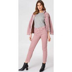 Spodnie z wysokim stanem: Dr Denim Jeansy Pepper - Pink