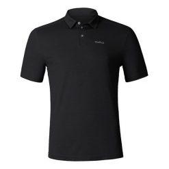 Odlo Koszulka męska Polo shirt s/s PETER czarna r. M. Czarne koszulki polo marki Odlo, m. Za 179,95 zł.