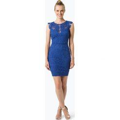 Lipsy - Damska sukienka wieczorowa, niebieski. Niebieskie sukienki balowe Lipsy, w koronkowe wzory, z koronki, z dekoltem na plecach. Za 399,95 zł.