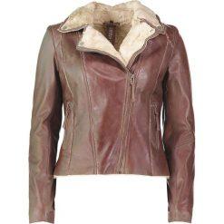 """Bomberki damskie: Skórzana kurtka """"Yukon Gold"""" w kolorze brązowym"""