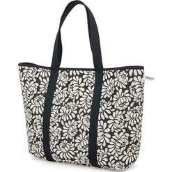 Torba plażowa w kolorze czarno-białym - (S)52 x (W)35 x (G)14 cm. Białe torebki klasyczne damskie Pijama, z materiału. W wyprzedaży za 179,95 zł.