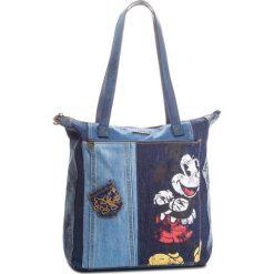 Torebka DESIGUAL - 18WAXD14 5008. Niebieskie torebki klasyczne damskie Desigual, z materiału. Za 349,90 zł.