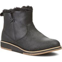 Buty EMU AUSTRALIA - Beach Mini W11026 Black. Czarne buty zimowe damskie marki Born2be, z materiału, z okrągłym noskiem, na niskim obcasie, na koturnie. Za 559,00 zł.