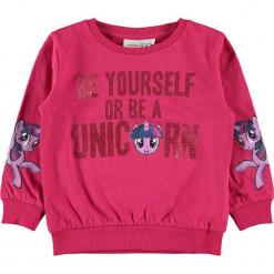 """Bluza """"Amina"""" w kolorze różowym. Czerwone bluzy niemowlęce Name it Kids, z bawełny. W wyprzedaży za 62,95 zł."""