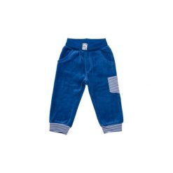 SALT AND PEPPER Baby Glück Boys Spodnie plusz Tiger uni bright blue. Niebieskie spodnie chłopięce marki Salt and Pepper, z bawełny. Za 55,00 zł.