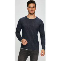 Selected - Sweter. Czarne swetry klasyczne męskie marki Selected, l, z bawełny, z okrągłym kołnierzem. W wyprzedaży za 99,90 zł.