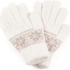 Rękawiczki damskie: Art of Polo Rękawiczki damskie w gwiazdki białe (rk0890)