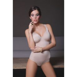 Body damskie z biustonoszem Rori Skin. Brązowe bluzki body N/A, z haftami, z bawełny. Za 138,99 zł.