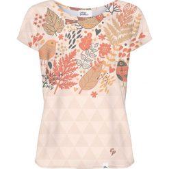 Colour Pleasure Koszulka damska CP-034 254 beżowo-brązowa r. XS/S. Brązowe bluzki damskie marki Colour pleasure, s. Za 70,35 zł.