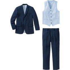 Garnitur (5 części) bonprix ciemnoniebieski. Niebieskie garnitury bonprix. Za 399,99 zł.