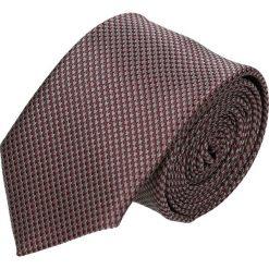 Krawaty męskie: krawat platinum bordo classic 217