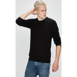 Selected - Sweter. Szare swetry klasyczne męskie Selected, l, z bawełny, z okrągłym kołnierzem. W wyprzedaży za 179,90 zł.