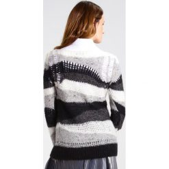 Swetry klasyczne damskie: Sisley Sweter grey combo