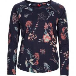 """Koszulka piżamowa """"Flower Dreams"""" w kolorze granatowym ze wzorem. Białe koszule nocne i halki marki LASCANA, w koronkowe wzory, z koronki. W wyprzedaży za 58,95 zł."""