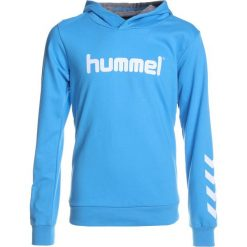 Hummel HOODIE Bluza z kapturem blithe. Niebieskie bluzy chłopięce rozpinane marki Hummel, z bawełny, z kapturem. Za 149,00 zł.